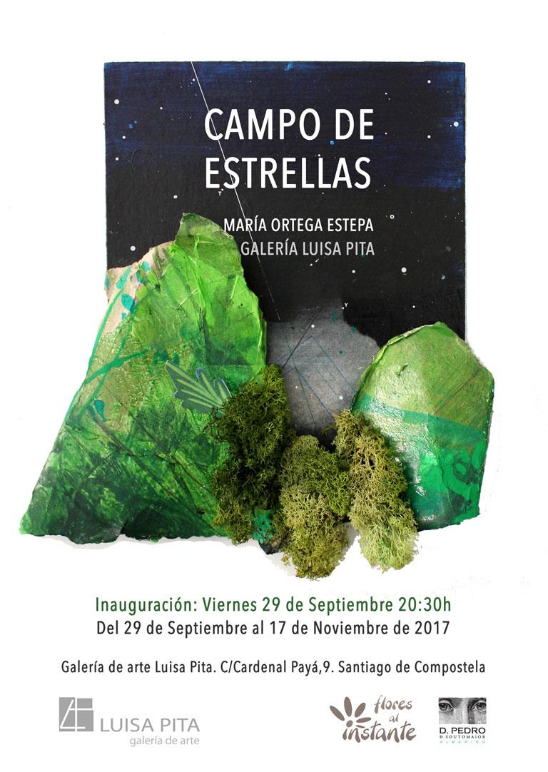Cartel Campo de estrellas. María Ortega Estepa