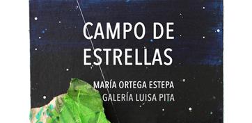 Cartel Campo de estrellas. Galería Luisa Pita. María Ortega Estepa