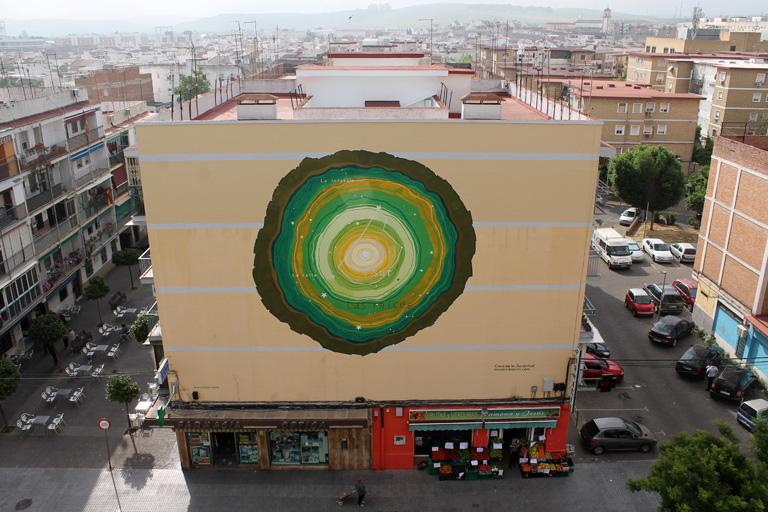 María Ortega Estepa. Mural Las raíces Córdoba