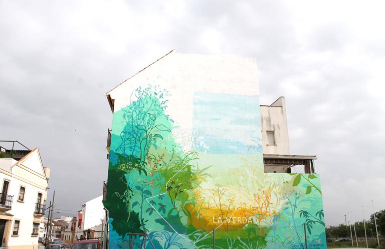María Ortega Estepa. Mural la verdad. Distrito Sur de Córdoba