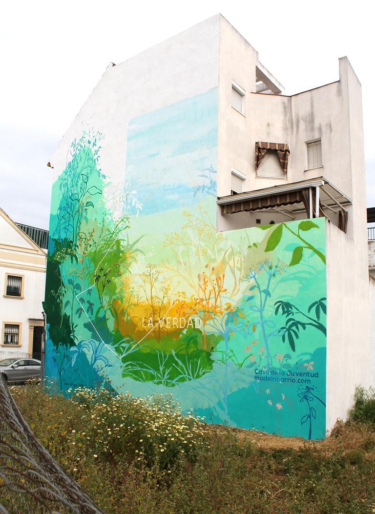 María Ortega Estepa. Mural la verdad Córdoba
