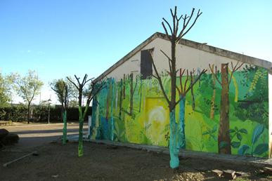 María Ortega Estepa. Viajando el paraíso. Mural Torremocha de Jarama