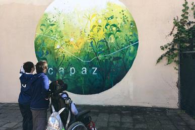 María Ortega Estepa. Mural Latido capaz Sevilla