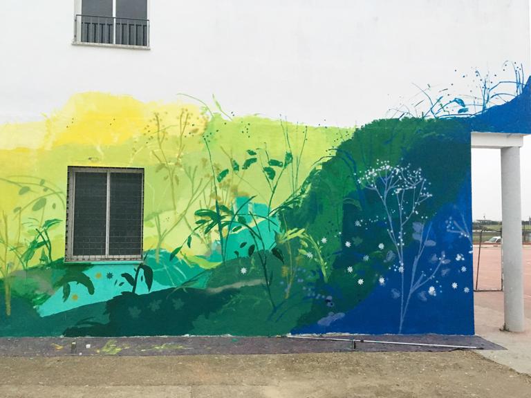 María Ortega Estepa. Mural Olivares Sevilla