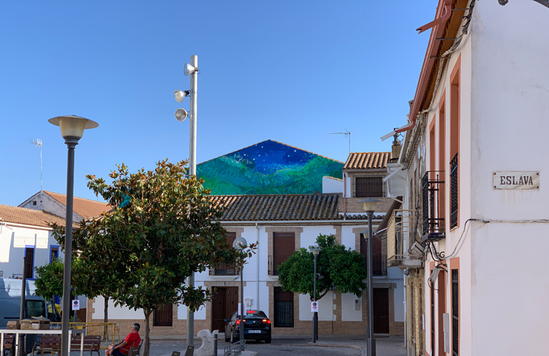María Ortega Estepa. Mural Cósmica y Vegetal. Festival ArtSur