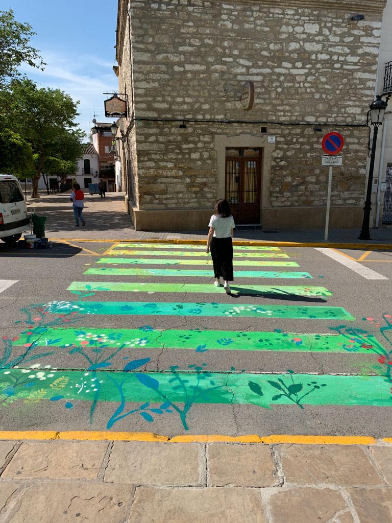 María Ortega Estepa. Peatones en Flor. Festival Calles en Flor, Cañete de las Torres - Córdoba