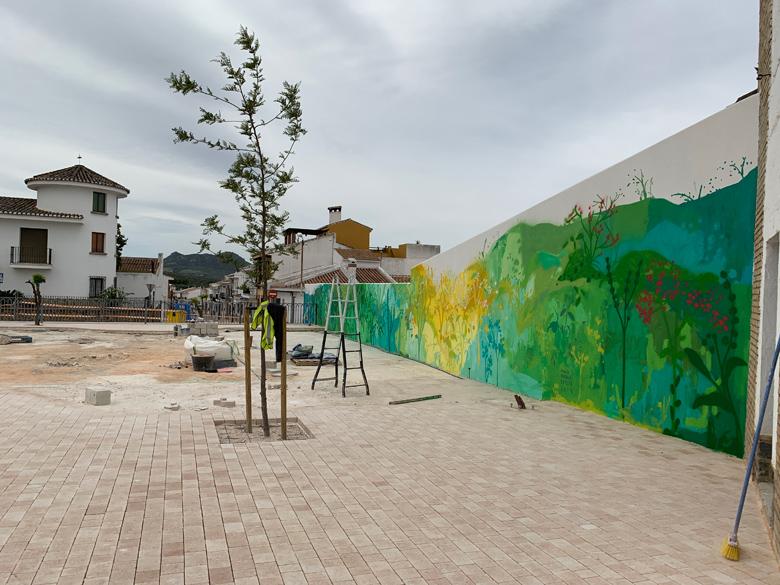 María Ortega Estepa. Mural CEIP Velasco y Merino. Villanueva del Rosario - Málaga