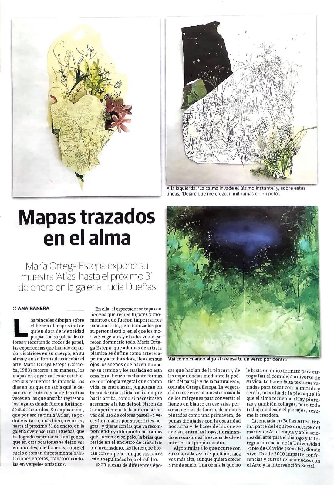 ATLAS. María Ortega Estepa. Galería Lucía Dueñas