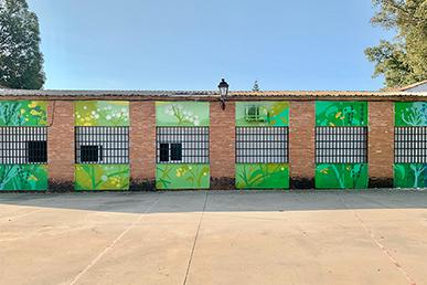 María Ortega Estepa. Mural Centro Joven de Olivares - Sevilla