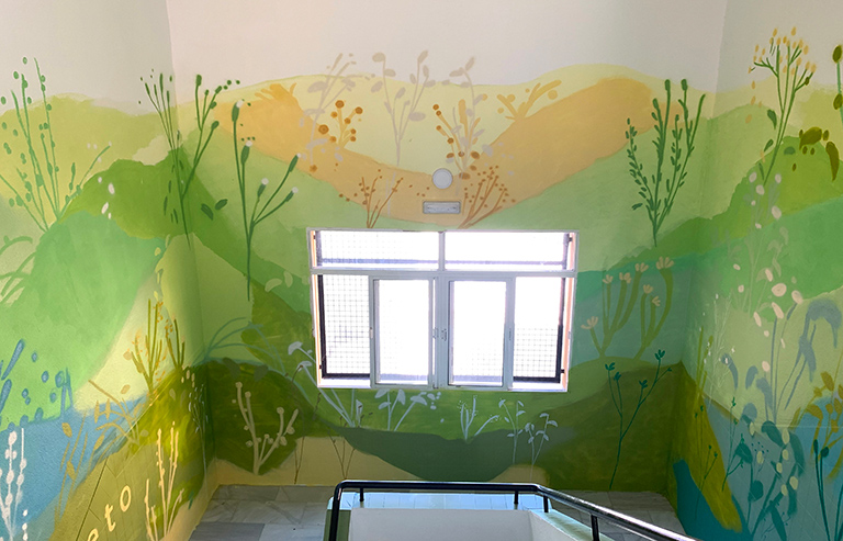María Ortega Estepa. Mural IES Levante - Algeciras