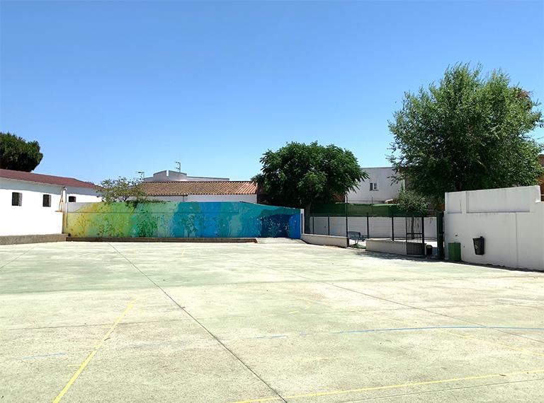 María Ortega Estepa. Mural CEIP Sagrado Corazón. Puente Mayorga - Cádiz