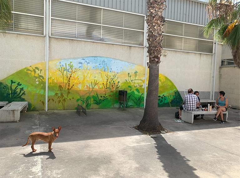 María Ortega Estepa. Mural IES Azahar. San Martín del Tesorillo - Cádiz