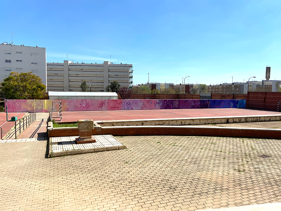 Mural IES La Marisma de Huelva. María Ortega Estepa