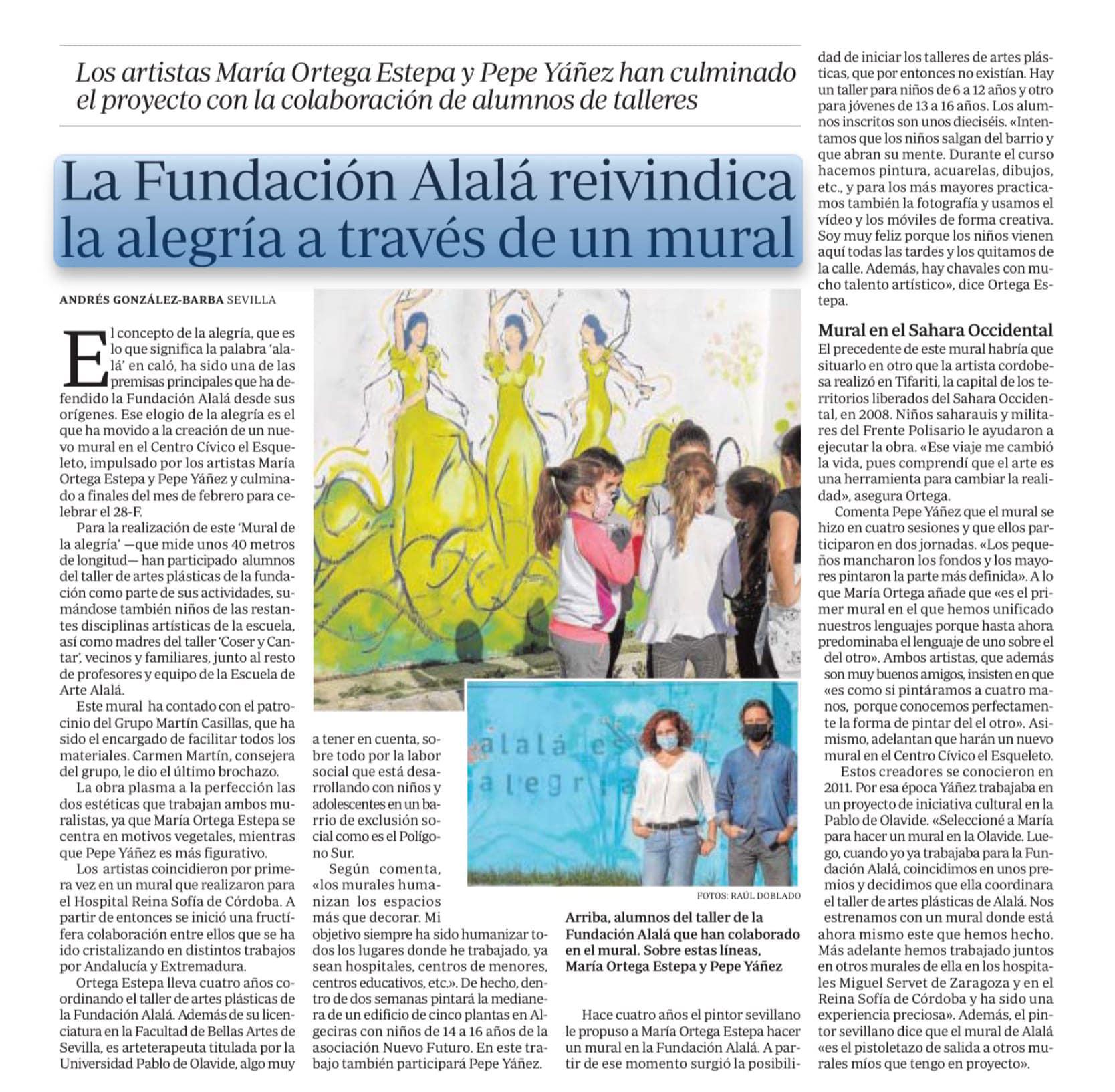 Mural Taller Fundación Alalá - Centro cívico El Esqueleto
