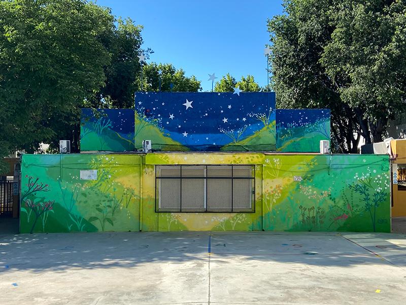 María Ortega Estepa. Mural CEIP Jerónimo Luis Cabrera, Córdoba