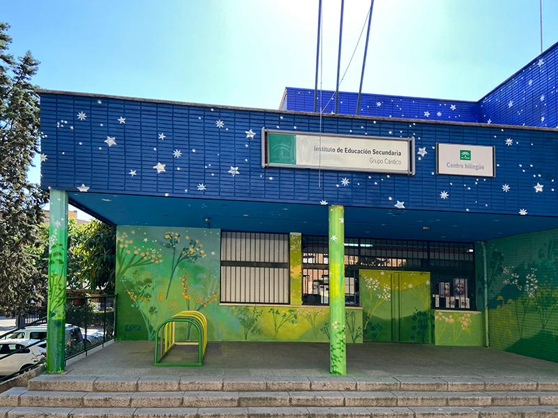María Ortega Estepa. Mural IES Grupo Cántico, Córdoba