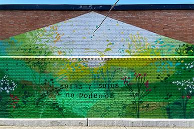 María Ortega Estepa. Mural CEIP Albolafia, Córdoba